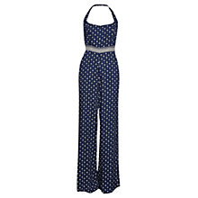 Buy French Connection Castaway Drape Strappy Jumpsuit, Indian Ocean Online at johnlewis.com