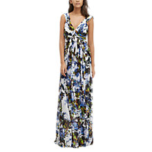 Buy French Connection Kiki Palm Print Sheer Maxi Dress, Multi Online at johnlewis.com
