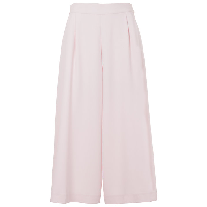 Buy French Connection Arrow Crepe Wide Leg Trousers, Jasmine Pink, 12 Online at johnlewis.com