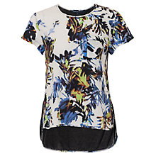 Buy French Connection Kiki Palm Print T-Shirt, Brule Multi Online at johnlewis.com