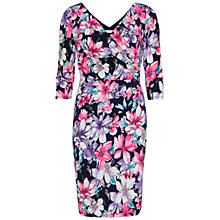 Buy Gina Bacconi Floral Jersey Wrap Dress, Navy Online at johnlewis.com
