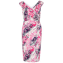 Buy Gina Bacconi Abstract Print Jersey Wrap Dress, Rose Pink Online at johnlewis.com
