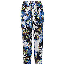 Buy French Connection Kiki Palm Drape Tie Waist Trousers, Brule Multi Online at johnlewis.com