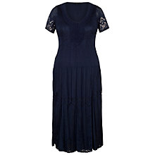 Buy Chesca Border Lace Crush Pleat Dress, Navy Online at johnlewis.com