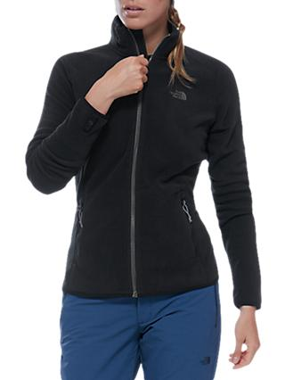 The North Face 100 Glacier Full Zip Women's Fleece, Black/Grey