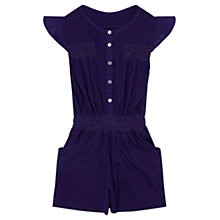 Buy Jigsaw Girls' Smocked Playsuit, Indigo Online at johnlewis.com