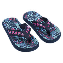 Buy Fat Face Girls' Isla Sea Print Flip Flops, Blue Online at johnlewis.com