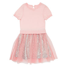 Buy Jigsaw Girls' Short Sleeve Sequin Dress, Pale Pink Online at johnlewis.com