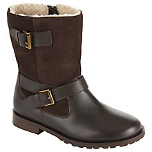 Buy John Lewis Children's Sophie Biker Boots, Chocolate Brown Online at johnlewis.com