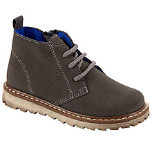 Buy John Lewis Children's Desert Boots, Dark Grey Online at johnlewis.com