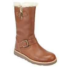 Buy John Lewis Children's Leia Shearling Boots, Tan Online at johnlewis.com