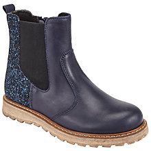 Buy John Lewis Children's Thea Glitter Boots, Navy Online at johnlewis.com