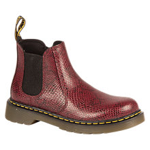 Buy Dr Martens Children's Banzai Chelsea Boots, Wine Online at johnlewis.com