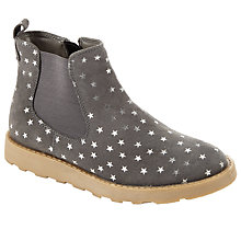 Buy John Lewis Children's Amber Star Suede Chelsea Boots, Grey Online at johnlewis.com