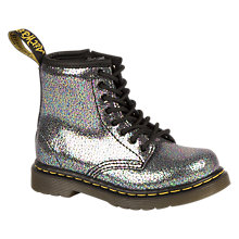 Buy Dr Martens Children's Brooklee Glitter Boots, Silver Glitter Online at johnlewis.com