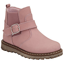 Buy John Lewis Children's Zoe Buckle Chelsea Boots, Pink Online at johnlewis.com
