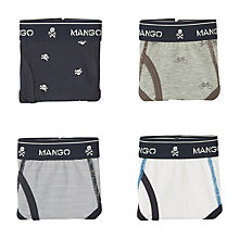 Buy Mango Kids Boys' Mix Briefs, Pack of 4, Multi Online at johnlewis.com
