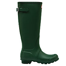 Buy Hunter Women's Original Adjustable Rubber Wellington Boots, Hunter Green Online at johnlewis.com