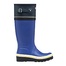 Buy Hunter Original Tall Wedge Wellington Boots, Deep Cobalt/Navy Online at johnlewis.com