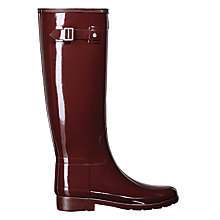 Buy Hunter Original Tall Refined Gloss Wellington Boots, Dulse Online at johnlewis.com