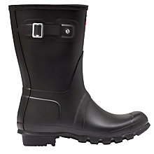 Buy Hunter Women's Original Short Matte Wellington Boots, Black Online at johnlewis.com