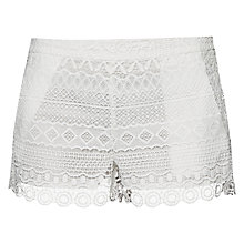 Buy French Connection Castaway Stripe Mini Shorts, Summer White Online at johnlewis.com