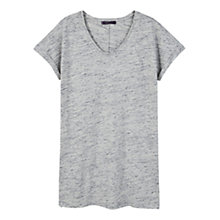 Buy Violeta by Mango Flecked Cotton-Blend T-Shirt, Grey Online at johnlewis.com