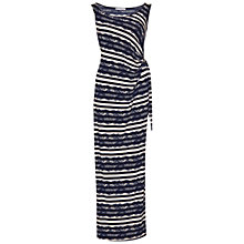 Buy Gina Bacconi Stripe And Lace Print Jersey Maxi Dress, Navy/Cream Online at johnlewis.com
