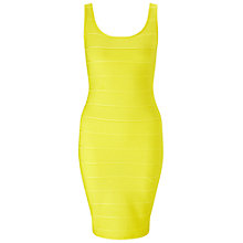 Buy Miss Selfridge Bandage Bodycon Dress, Yellow Online at johnlewis.com