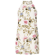 Buy Miss Selfridge Blossom High Neck Tunic Top, Multi Online at johnlewis.com