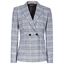 Buy Reiss Jada Premium Checked Jacket, Blue/Off White Online at johnlewis.com