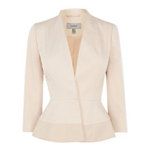 Buy Coast Sonja Textured Jacket, Champagne Online at johnlewis.com