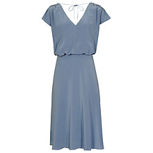 Buy Reiss Cedar V-Neck Dress, Cornflower Blue Online at johnlewis.com
