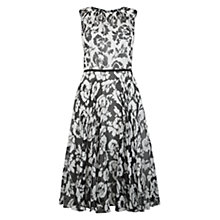 Buy Hobbs Aberline Dress, Ivory/Black Online at johnlewis.com