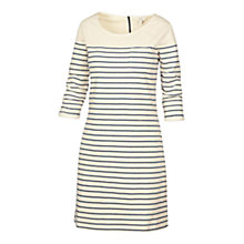 Buy Fat Face Tenby Breton Stripe Dress, Ivory Online at johnlewis.com