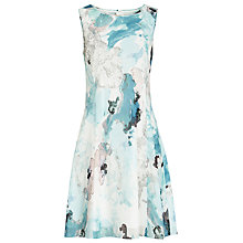 Buy Reiss Powys Printed Dress, Multi Green Online at johnlewis.com