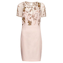 Buy French Connection Horizon Light Embellished Dress, Jasmine Pink Online at johnlewis.com