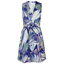 Buy Reiss Carmen Draped Printed Dress, Multi Blue Online at johnlewis.com