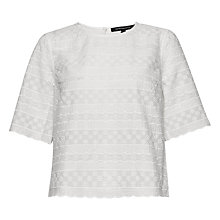 Buy French Connection Bixa Broderie Cropped Top, Summer White Online at johnlewis.com