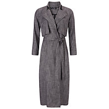Buy Miss Selfridge Maxi Trench Coat, Black Online at johnlewis.com