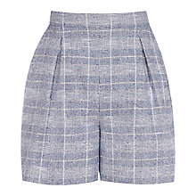 Buy Reiss Jada Checked Shorts, Blue/Off White Online at johnlewis.com