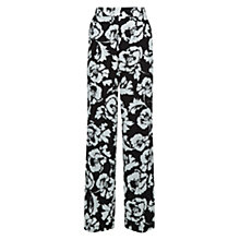Buy Hobbs Belize Trousers, Black/Ivory Online at johnlewis.com