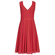 Buy Reiss Starr Pleated Dress, Cardinal Online at johnlewis.com
