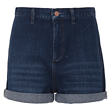 Buy French Connection Mallory Denim Shorts, Dark Vintage Online at johnlewis.com