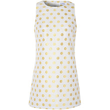 Buy True Decadence Spot Jacquard Shift Dress, Cream/Gold Online at johnlewis.com