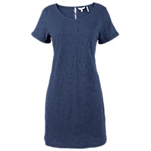 Buy Fat Face Tenby Broderie Dress, Indigo Online at johnlewis.com