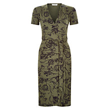 Buy Hobbs Josefina Dress, Khaki/Navy Online at johnlewis.com