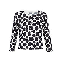 Buy Hobbs Water Spot Cardigan, Navy/White Online at johnlewis.com