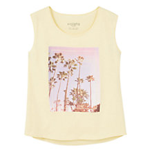 Buy Violeta by Mango Sleeveless Printed Image Cotton T-Shirt, Yellow Online at johnlewis.com