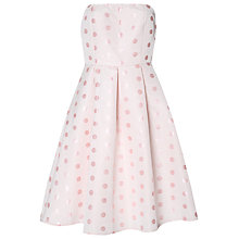 Buy True Decadence Spot Bandeau Prom Dress, Pastel Pink Online at johnlewis.com